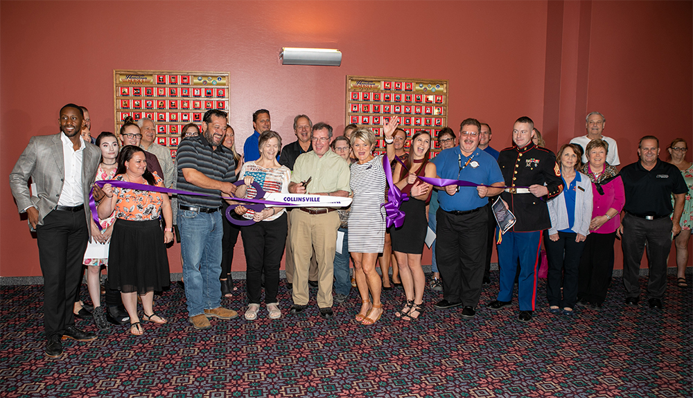 Hometown Heroes Display - Ribbon Cutting