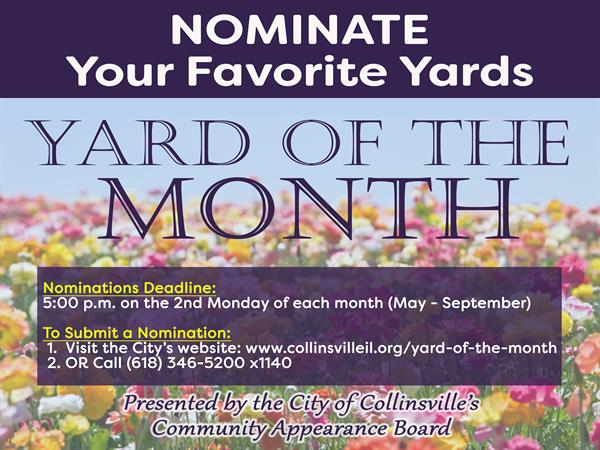 Yard of the Month Contest Flyer 04-19-19