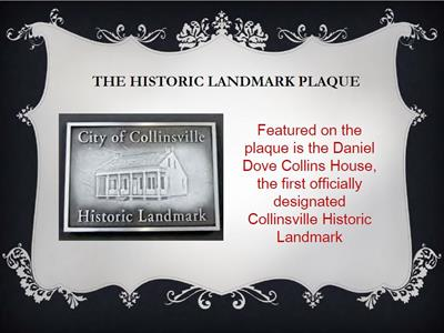 DD Collins House Historic Landmark Plaque